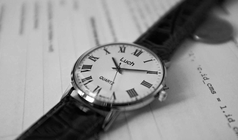 часы, чёрно, белое, советские,