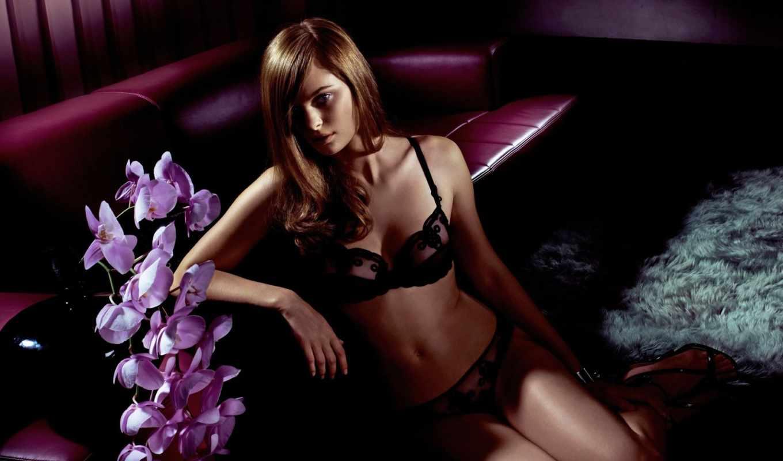 белье, клипарт, devushki, нижнее, девушка, красивая, орхидеи, красавица,