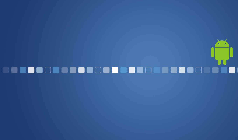 android, квадраты, синий, лого