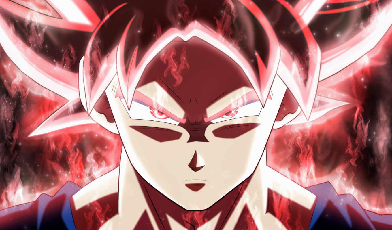 дракон, мяч, goku, супер, ultra, instinct, mastered, anime,