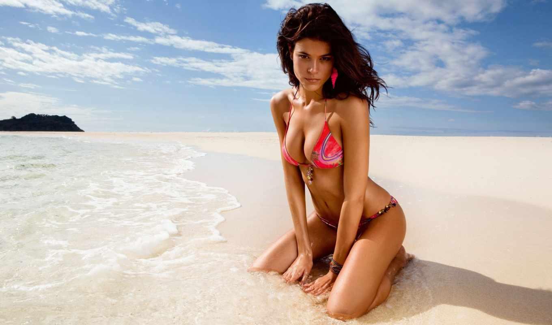 девушка, девушки, пляже, марта, пляж, лето, красивая, море, солнце,