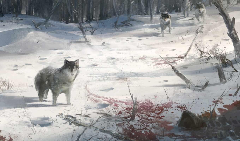 Картинка волки целуются - 96