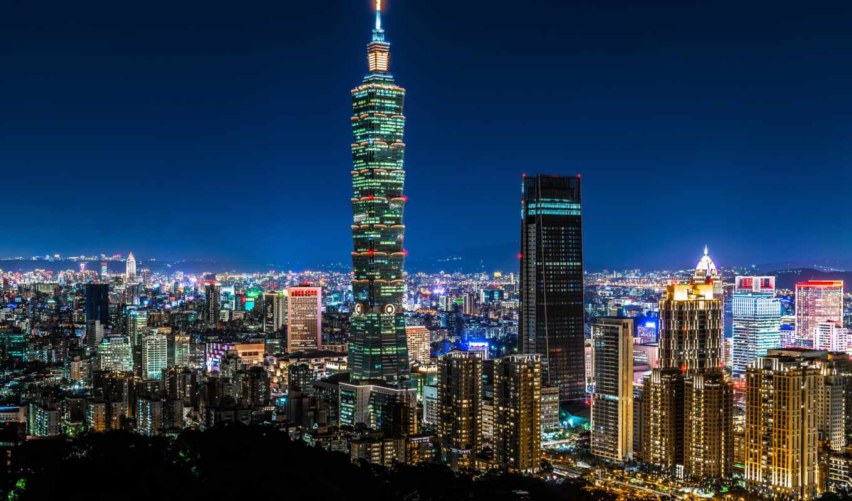 taipei, город, urban, ночь, небоскрёба, taiwan, китаянка, financial, building, world, центр