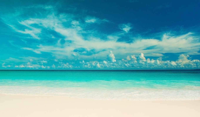 море, небо, пляж, landscape, облако, природа, water