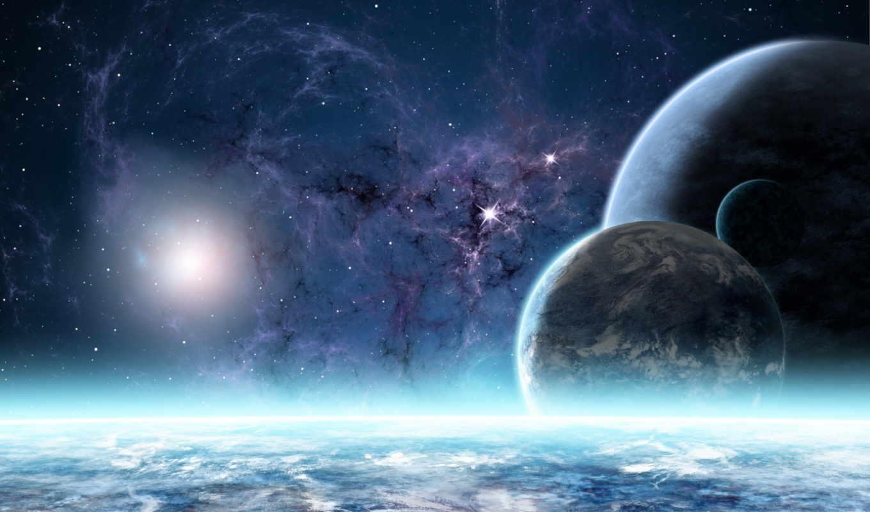 планеты, звезды, туманность, атмосфера, картинка, картинку, иные, времена, миры, кнопкой, огромная, коллекция,