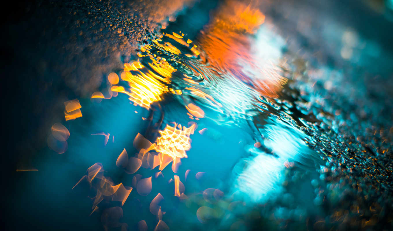 night, puddles, light, июня, que,