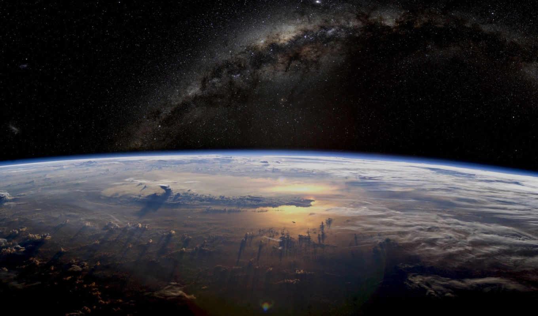 космос, путь, млечный, звезды, планета, земля, разделе,