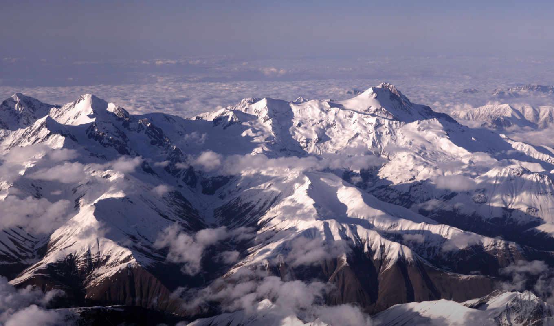 covers, природа, mount, страница, ushba, кавказ, вершины, снег, range, гора,