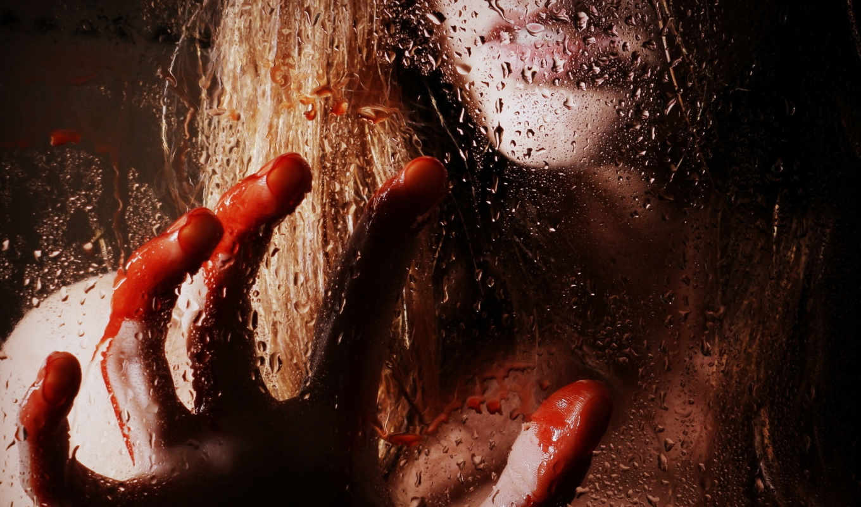 кровь, девушка, glass, рука, фотографий, капли, проливная,