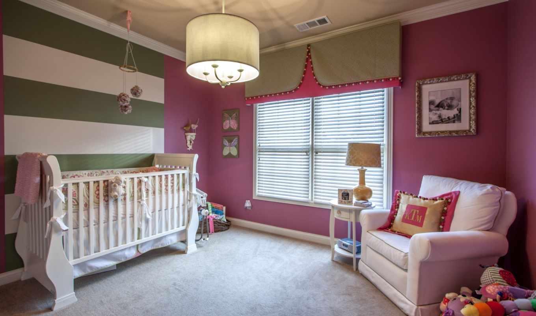 интерьер, детская, комната,