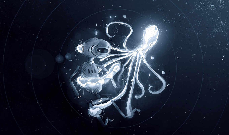 осьминог, картинка,