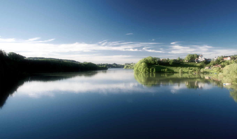gruyere, озеро, lac, gruyère, lago, point, природа, швейцария, papel,