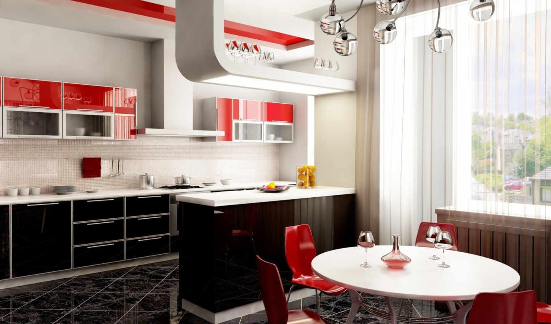 кухни, дизайн, интерьера, комнаты, интерьер, фото,