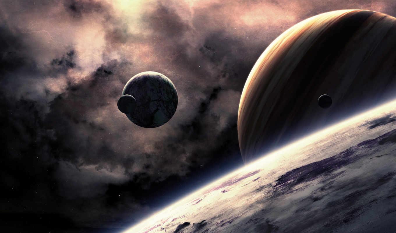 планеты, звезды, поверхность, космос, art, planets, download,