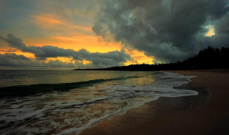 море, берег, чёрно, природа, пляж, моря, рассветы, закаты, небо, вечер, интерьере,