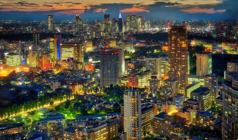 tokio, мегаполис,, japanese, ночь, tokyo,,