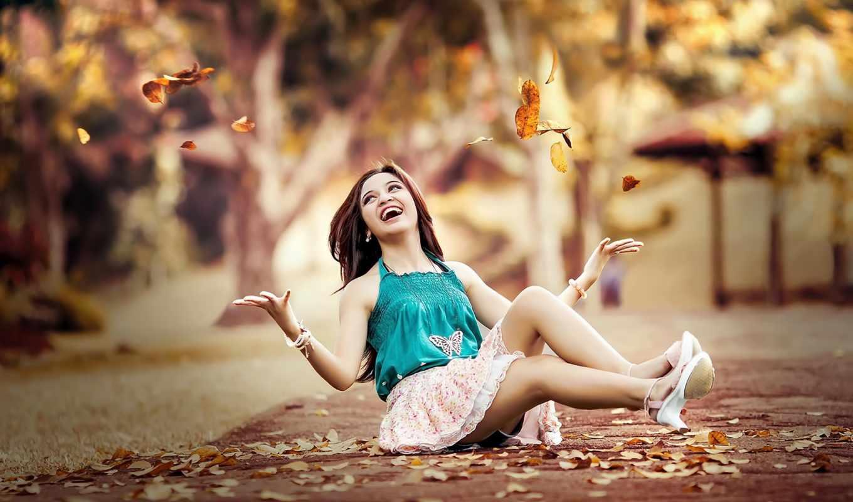 листья, красота, девушка, дорога, fell, just, best, pack,