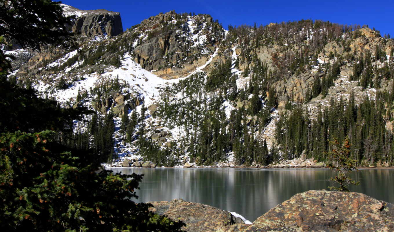 гора, national, скалистый, park, colorado, природа, парки, озеро, google, chaos,