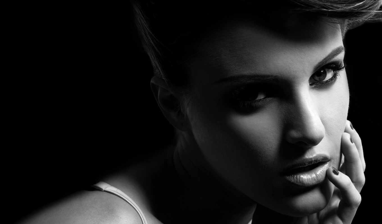 fone, девушка, черном, just, улице, очарование, девушку, глазами, devushki, выразительными,
