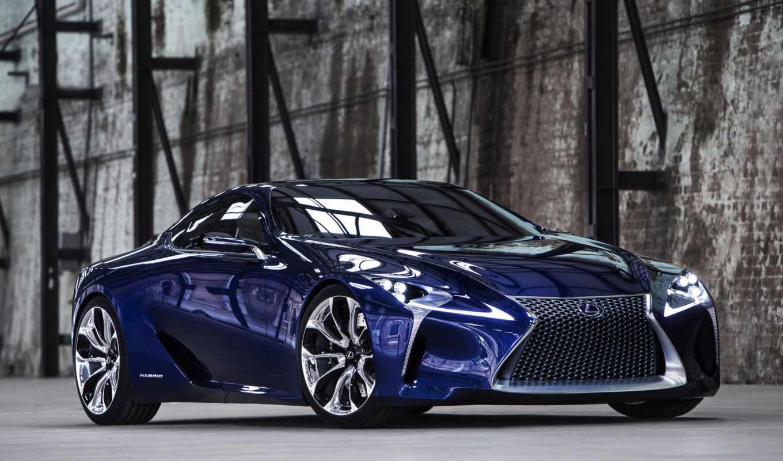 lc, lf, lexus, blue, the, concept, show, front, vi