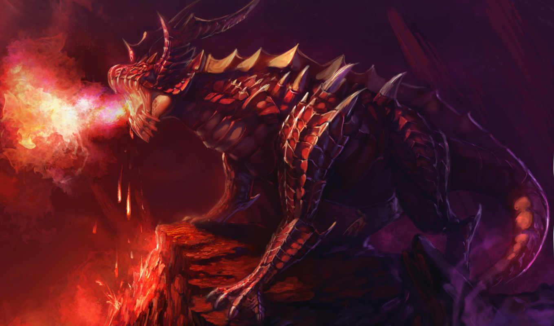 драконы, фентези, рендеринг, dragons, ipad, картинка,
