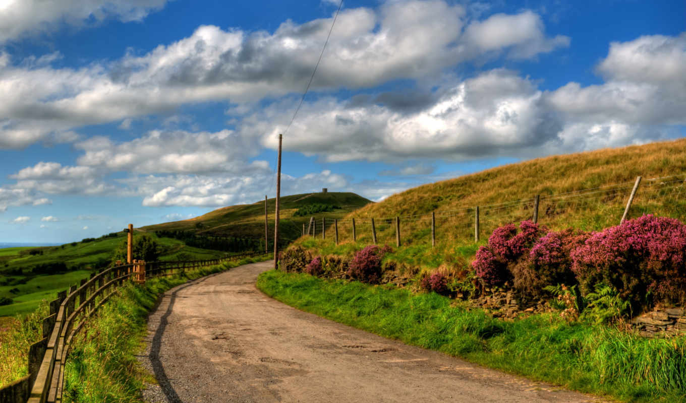 country, road, desktop, background, spring, day,