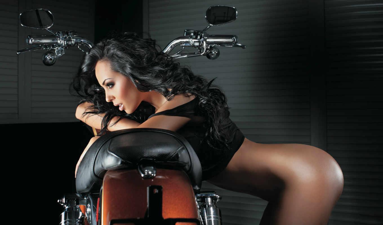 мотоциклы, девушки, мотоцикл, девушка,