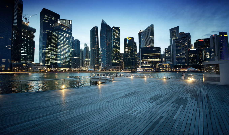 singapore, город, garden, lado, bay, огонь, место, кросс, ночь, largus, asian