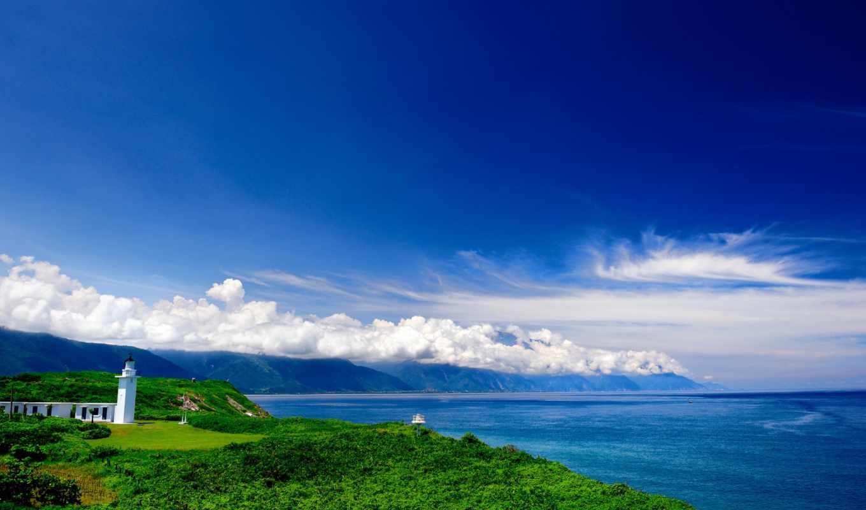 природа, небо, море, облака, горы, природы,