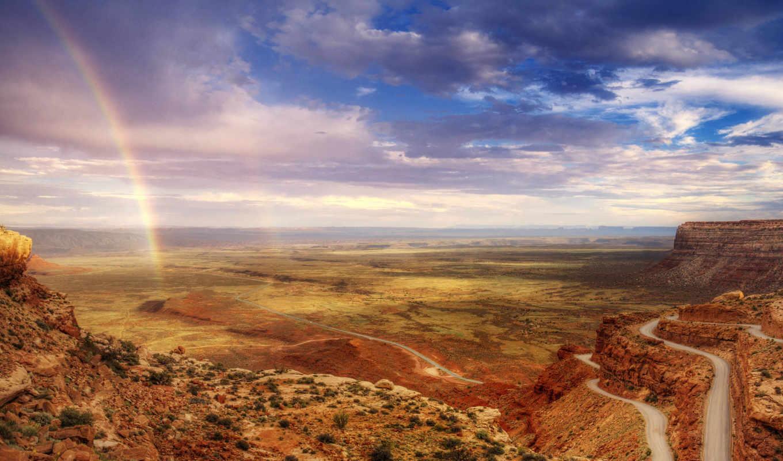 юта, долина, богов, full, телефон, splash, радуга, oblaka, горы, state,