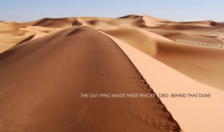 пустыня, небо, песок, дек,