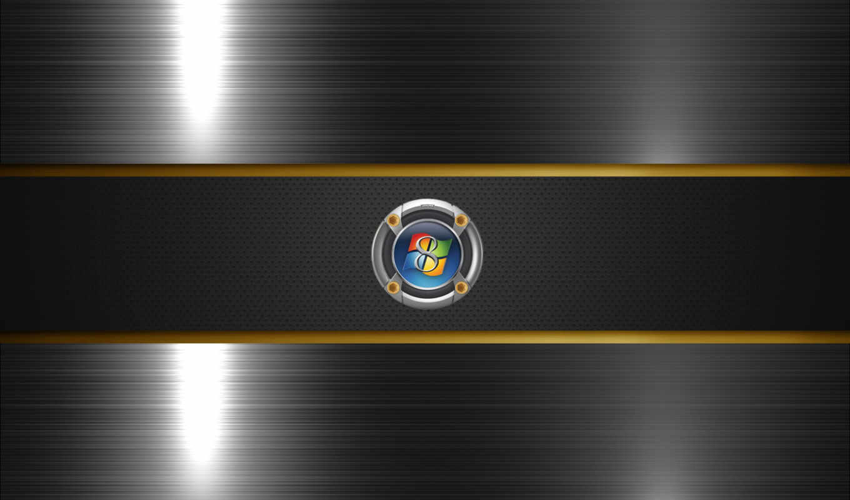 windows, eight, лого, металл, блеск