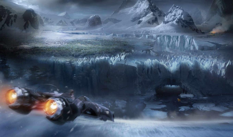 фантастика, science, пещера, разлом, glacier, art, fantasy, фотоальбом, научной,