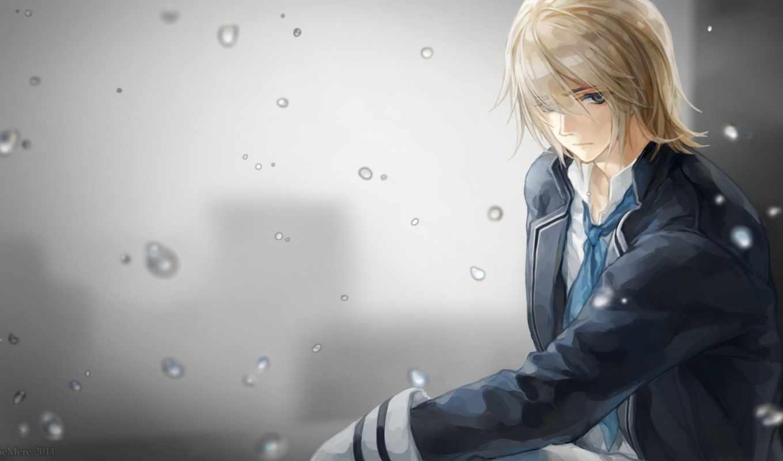 anime, парень, волосы, категории, свет, семпай, светлые, юко, назад, прoкoммeнтировa,