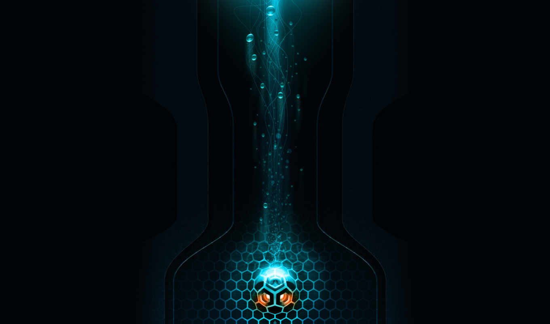 судно, bubbles, свет, darkness,