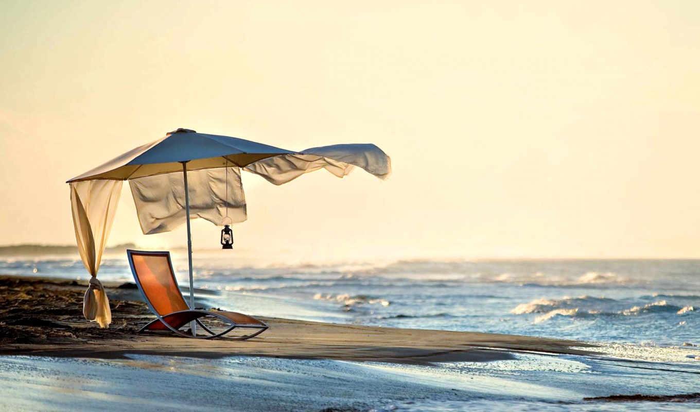 море, природа, пляж, шезлонг, summer,
