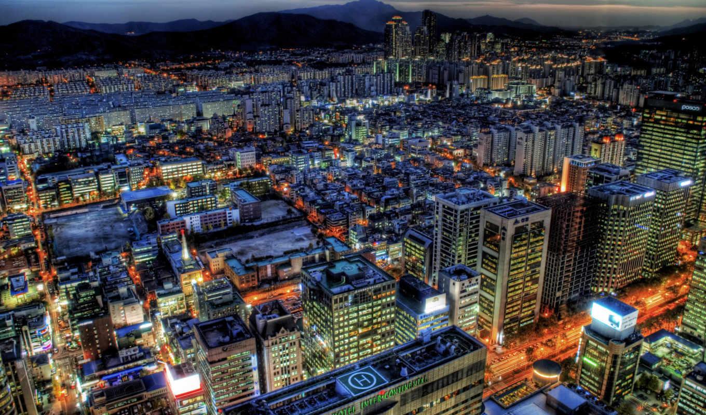 korea, сеул, южная, город,