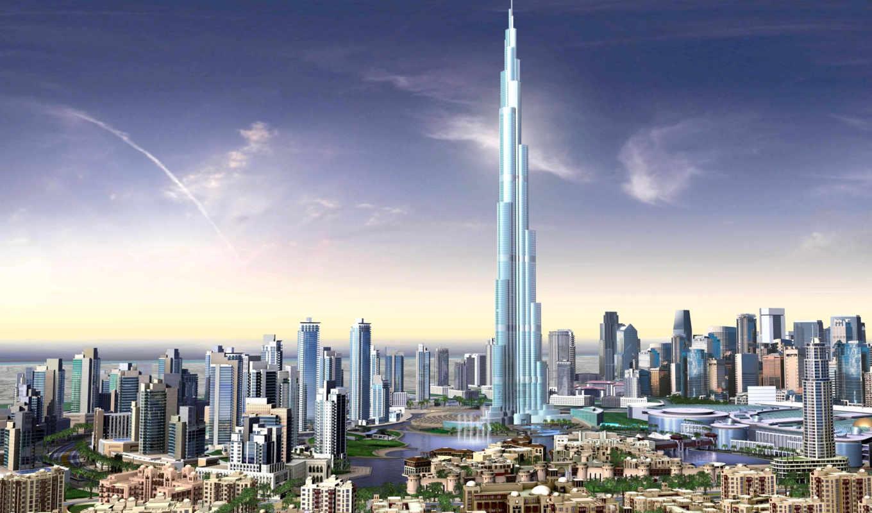 dubai, burj, khalifa, башня, подробнее, увеличить, palm, арабский, emirates, islands,