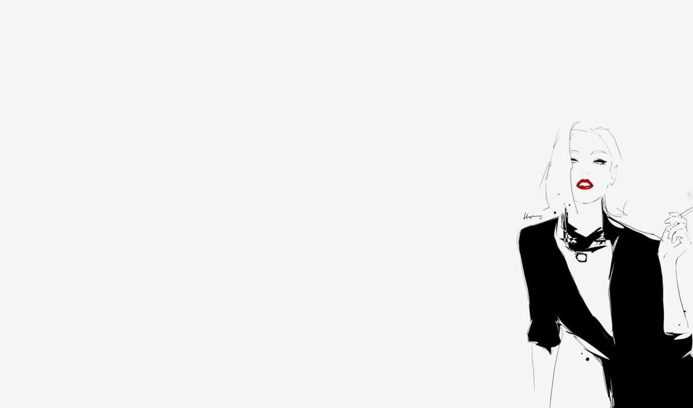 grey, floyd, женщина, рисунок, иллюстрация, сигарета, картинка,