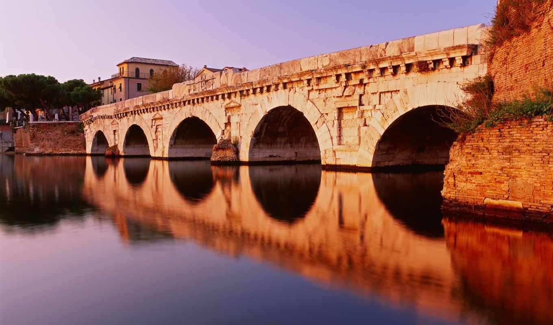 римини, мост, тиберия, мосты, мостики, italy, красивые,