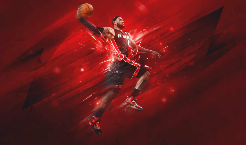 баскетбол, тепло, miami, nba, спорт, lebron, james, мяч, хит,