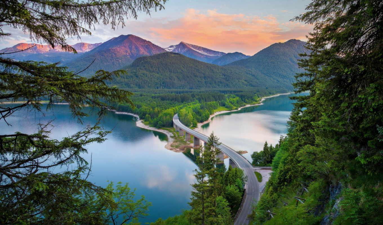 природа, горы, italy, лес, разделе, альпы, красиво, река,