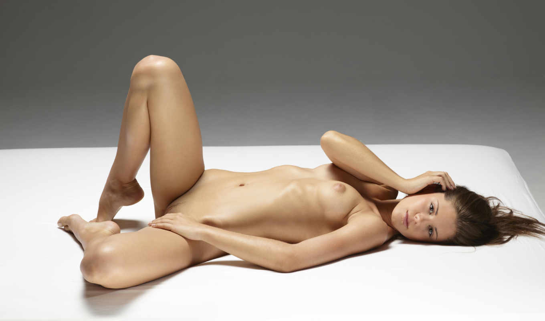 порно, голая, кровать