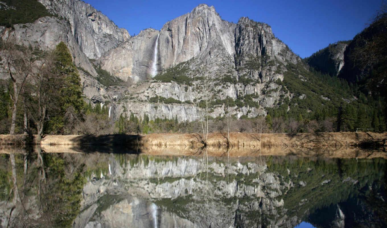 merced, интересно, river, mountain, природа,