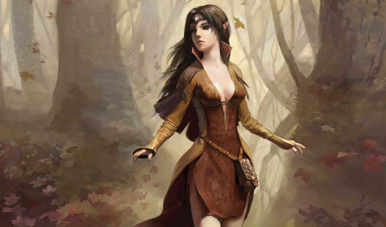 девушка, эльф, elfy, disciples, уши, картинка,