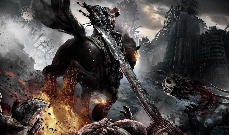 darksiders, фотографии, всадник, death, конь, lives,