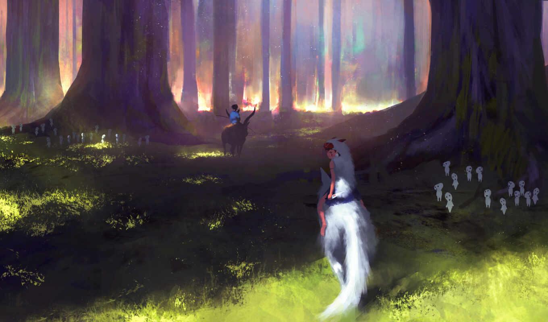 принцесса, art, mononoke, anime,