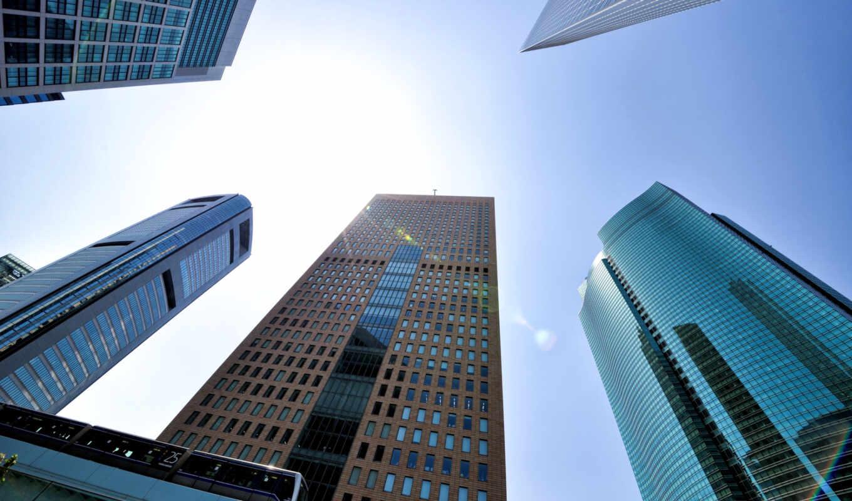 , здания, вид снизу, форт, legal, twistmedia, высотки, стекла,