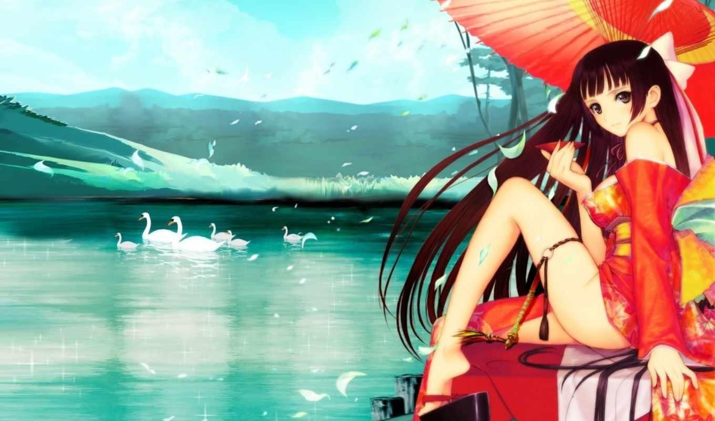 anime, названию, девушка, psp, art, eyes, manga, legs,