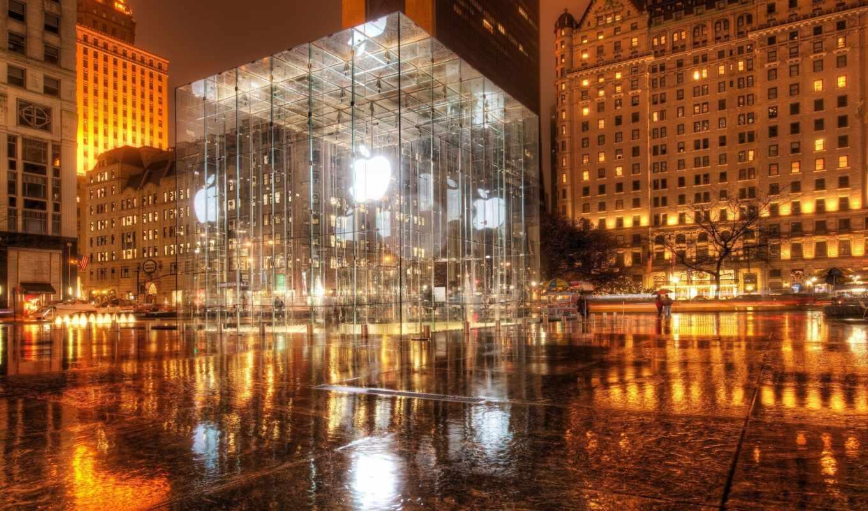 apple, new, york, нью, store, магазин, сша